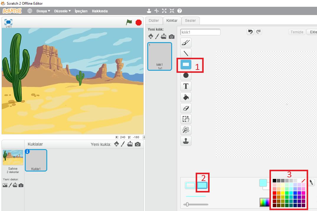 Çizim ekranında yapılacak ilk işlemler